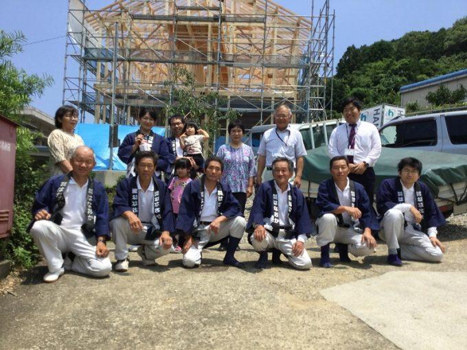 6月26日(日)、勝浦町・T様邸で上棟式がありました