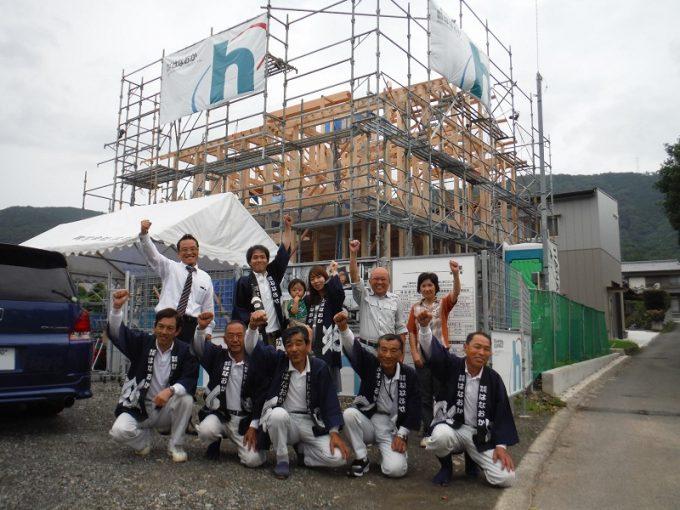 6月25日(土)、東みよし町・F様邸で上棟式がありました