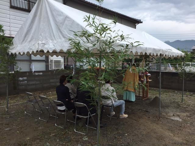 6月25日(土)、徳島市・T様邸で地鎮祭がありました