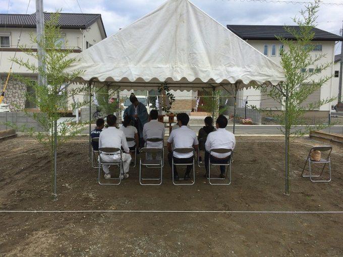8月28日(日)、藍住町・M様邸で地鎮祭がありました