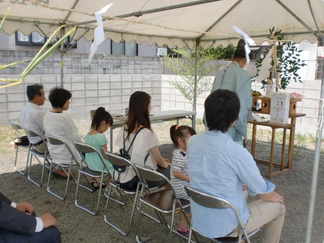 8月28日(日)、上板町・O様邸で地鎮祭がありました