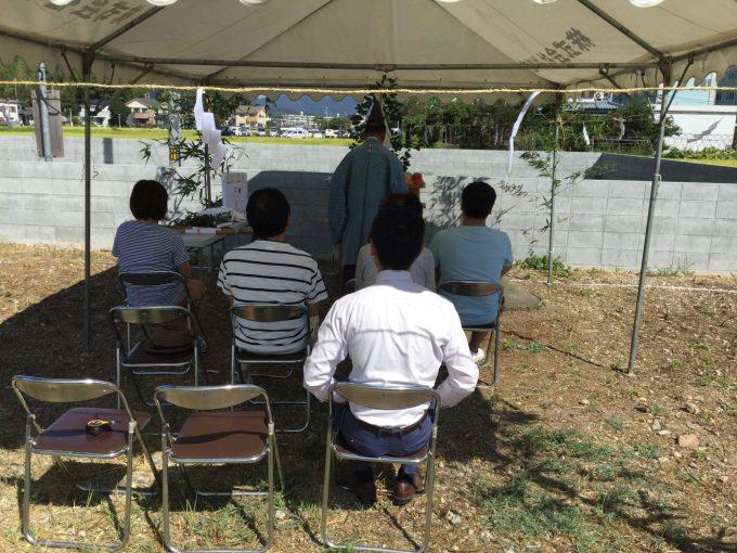 8月21日(日)、徳島市・K様邸で地鎮祭がありました