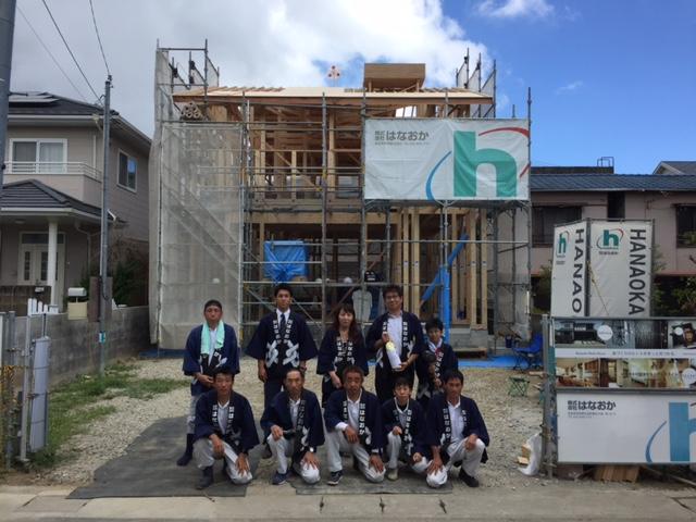 8月25日(木)、徳島市・O様邸で上棟式がありました