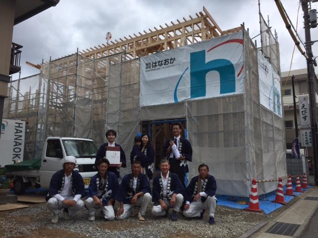 8月27日(土)、徳島市・K様邸で上棟式がありました