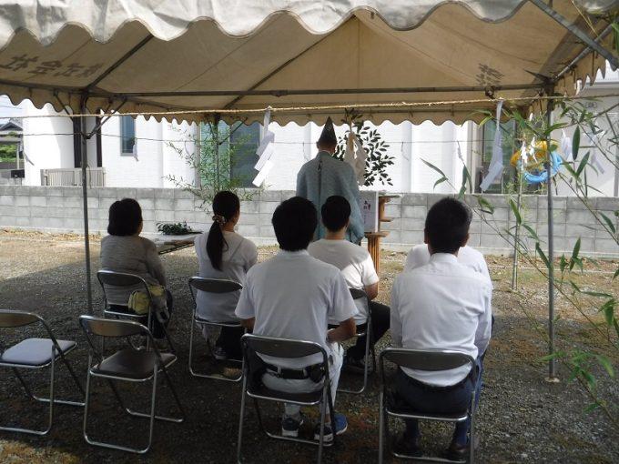 9月16日(金)、北島町・Y様邸で地鎮祭がありました