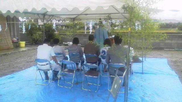9月18日(日)、上板町・I様邸で地鎮祭がありました
