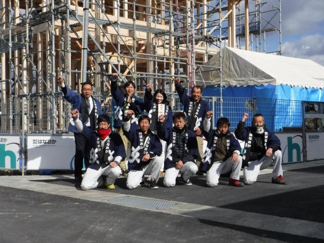1月15日(日)、徳島市・H様邸で上棟式がありました