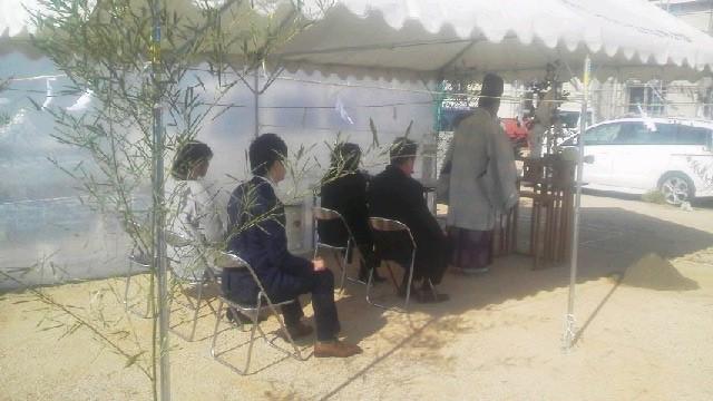 1月21日(土)、徳島市・K様邸で地鎮祭がありました