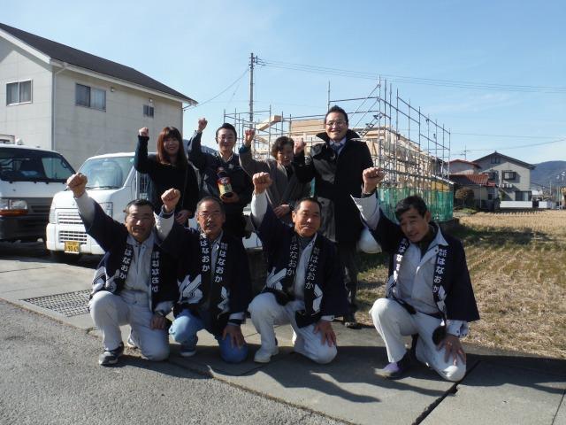 1月18日(水)、東みよし町・M様邸で上棟式がありました。