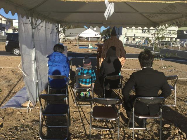 1月15日(土)、阿南市・B様邸で地鎮祭がありました
