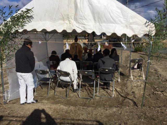 1月15日(日)、藍住町・U様邸で地鎮祭がありました