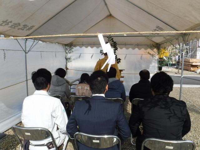 1月21日(土)、藍住町・I様邸で地鎮祭がありました