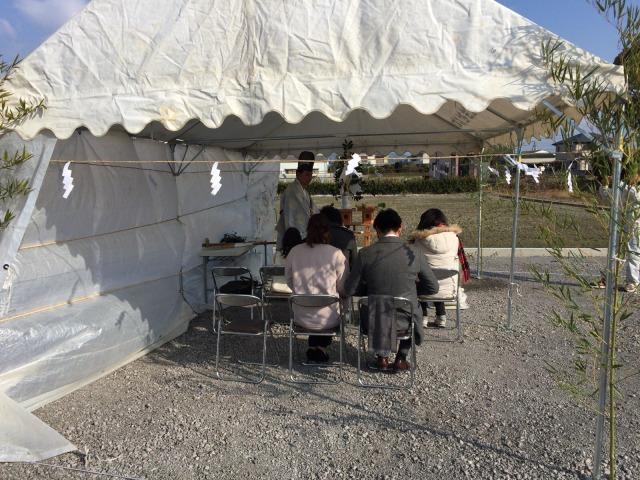 1月21日(土)、北島町・K様邸で地鎮祭がありました
