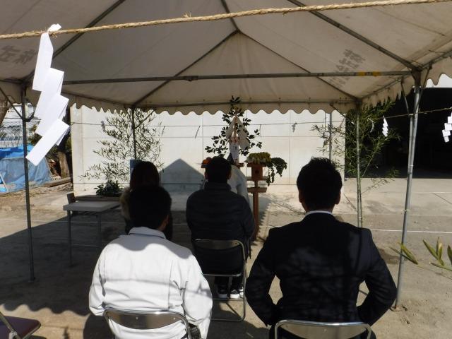 2月16日(木)、徳島市・T様邸で地鎮祭がありました