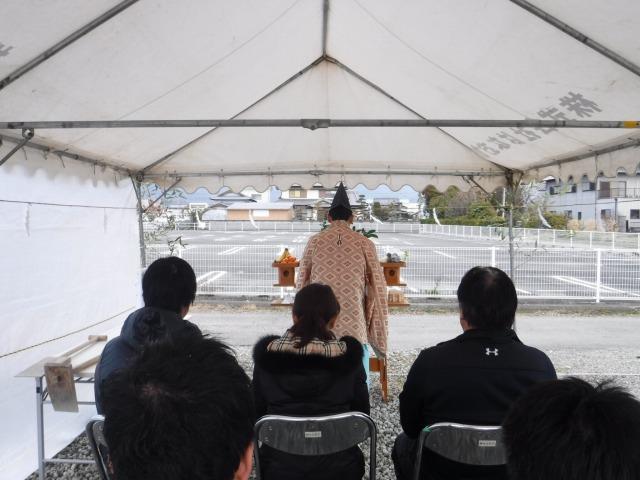 2月20日(月)、上板町・H様邸で地鎮祭がありました
