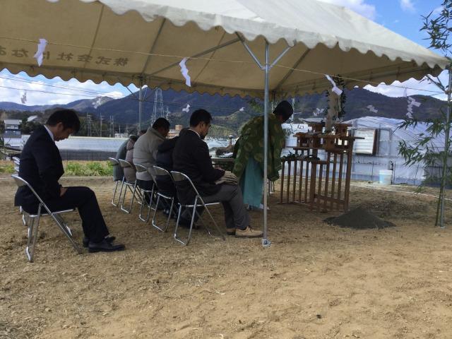 2月13日(月)、阿南市・M様邸で地鎮祭がありました