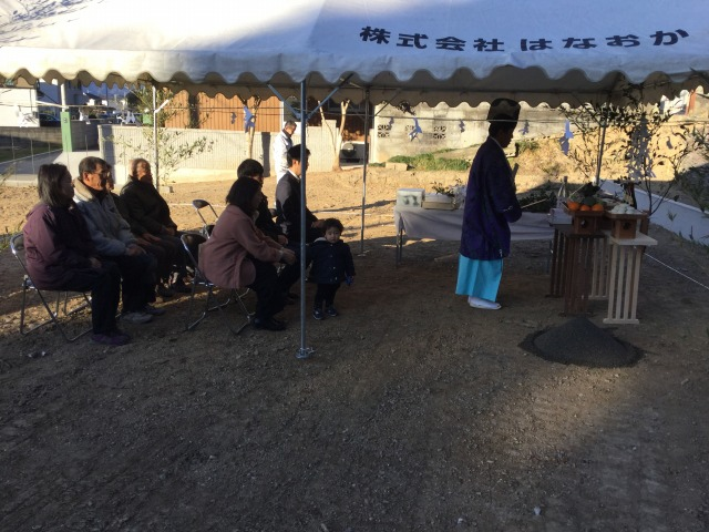 2月19日(日)、徳島市・Y様邸で地鎮祭がありました