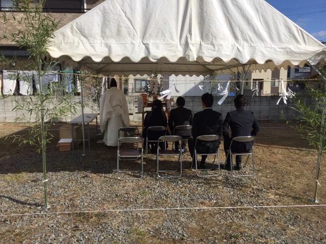 2月13日(月)、鳴門市・I様邸で地鎮祭がありました