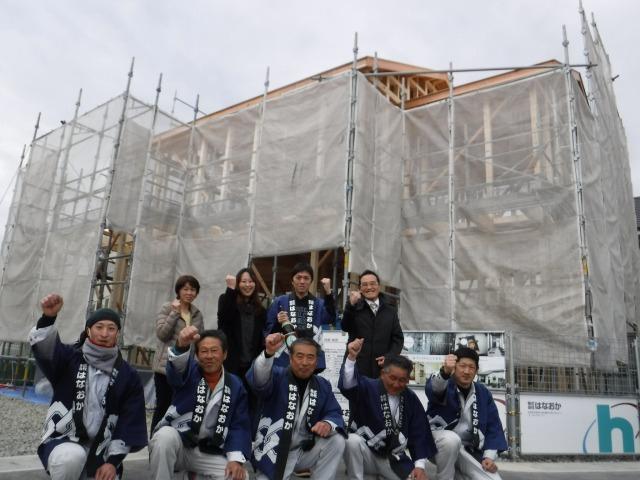 2月20日(月)、藍住町・M様邸で上棟式がありました