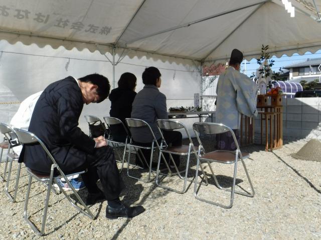 2月19日(日)、藍住町・M様邸で地鎮祭がありました