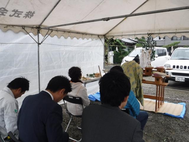 10月17日(火)、吉野川市・Y様邸で地鎮祭がありました