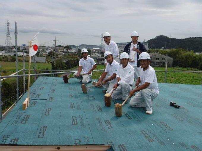 10月13日(金)、阿南市・S様邸で上棟式がありました