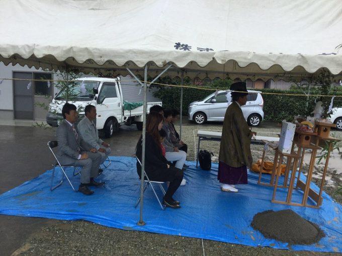 10月17日(火)、阿南市・S様邸で地鎮祭がありました