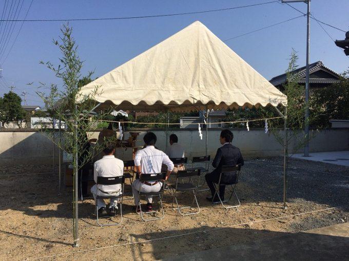 10月11日(水)、藍住町・S様邸で地鎮祭がありました