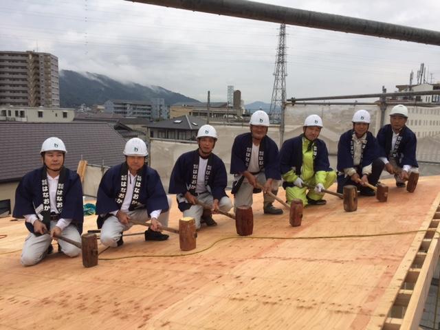 10月17日(火)、徳島市・S様邸で上棟式がありました
