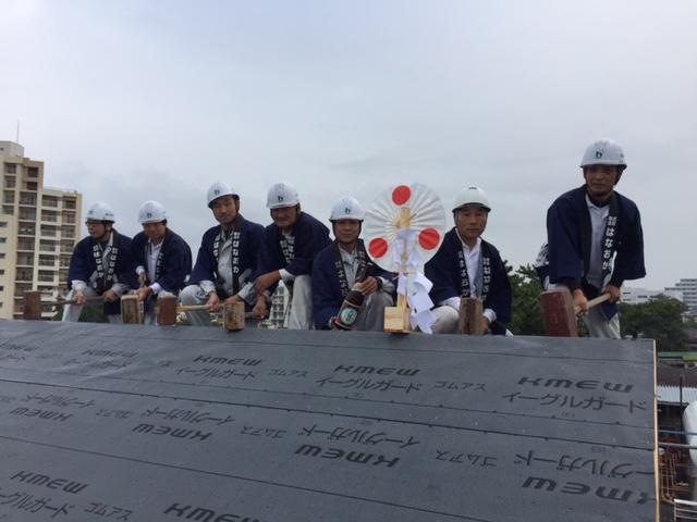 10月20日(金)、徳島市・Y様邸で上棟式がありました