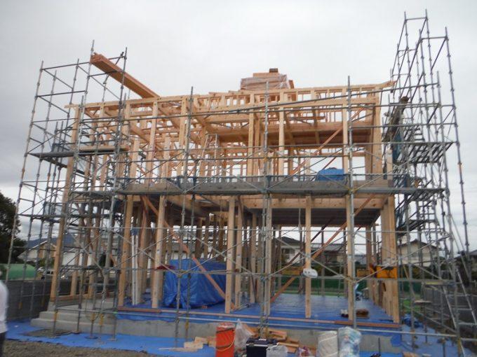 10月12日(木)、北島町・S様邸で上棟式がありました