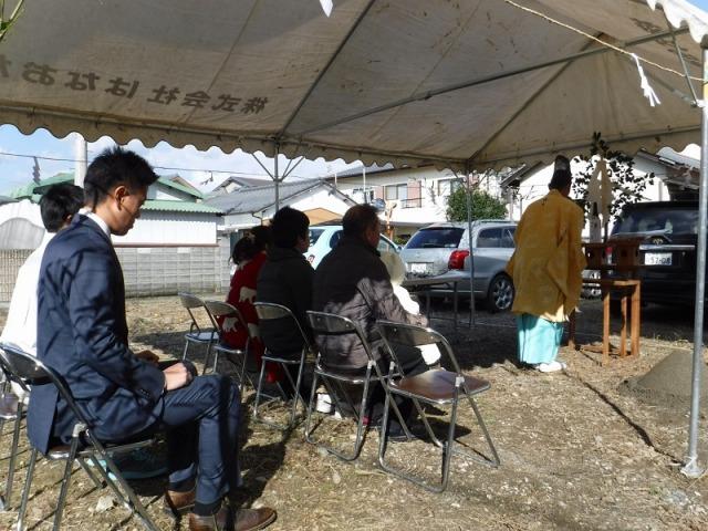 11月19日(日)、藍住町・K様邸で地鎮祭がありました