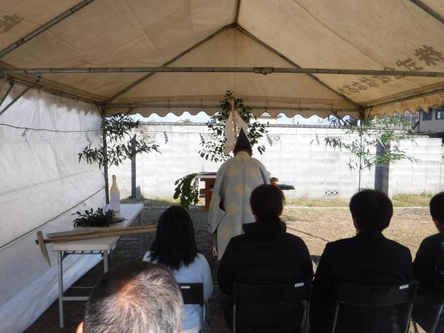 11月19日(日)、石井町・K様邸で地鎮祭がありました