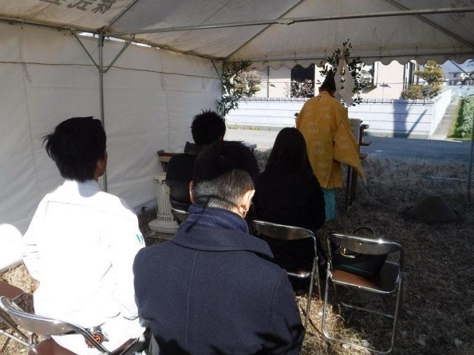 2月23日(金)、藍住町・M様邸で地鎮祭がありました