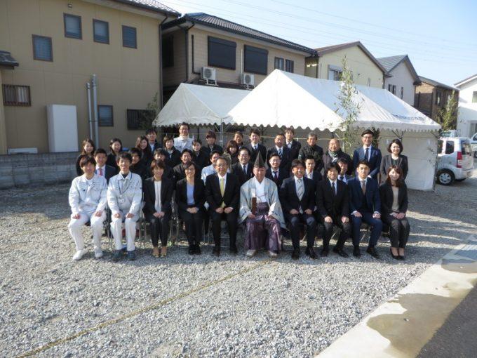 2月20日(火)、事務所別館の地鎮祭がありました