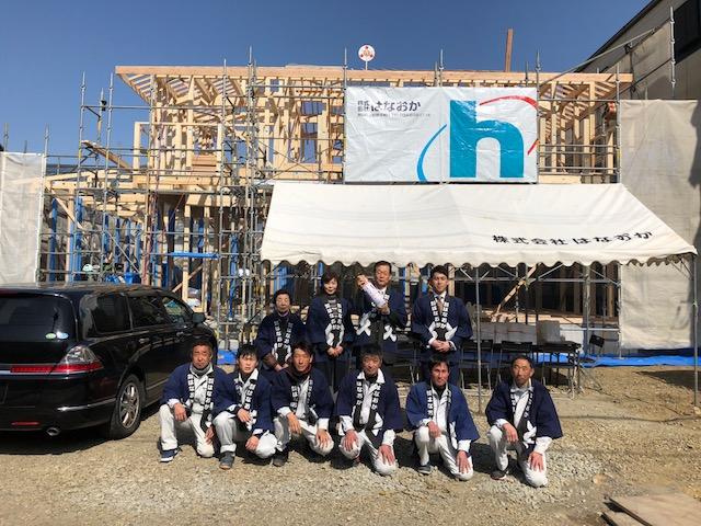 2月20日(火)、徳島市・N様邸で上棟式がありました