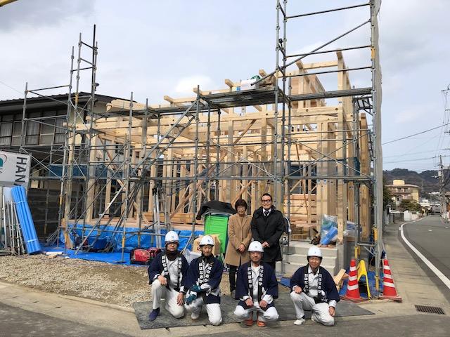2月22日(木)、徳島市・M様邸で上棟式がありました