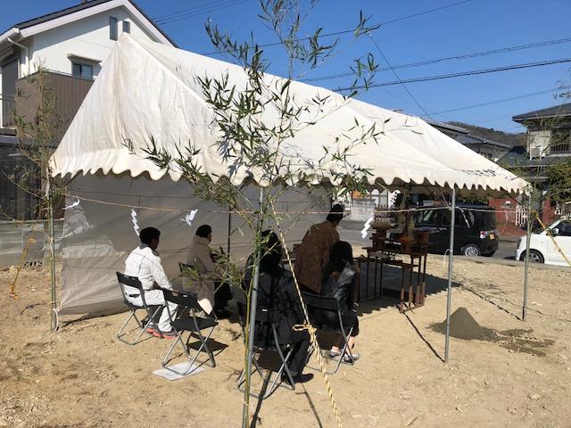 2月23日(金)、徳島市・M様邸で地鎮祭がありました