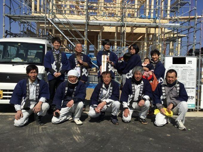 2月23日(金)、阿南市・F様邸で上棟式がありました