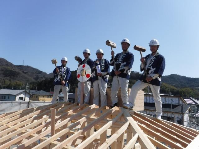 3月17日(土)、徳島市・F様邸で上棟式がありました