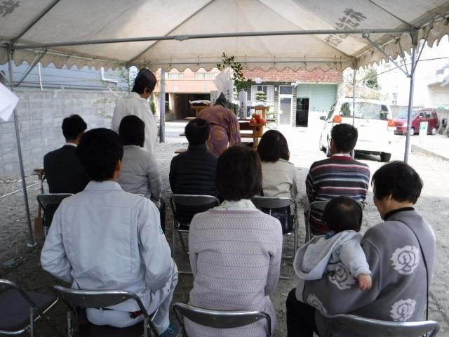 3月18日(日)、徳島市・O様邸で地鎮祭がありました