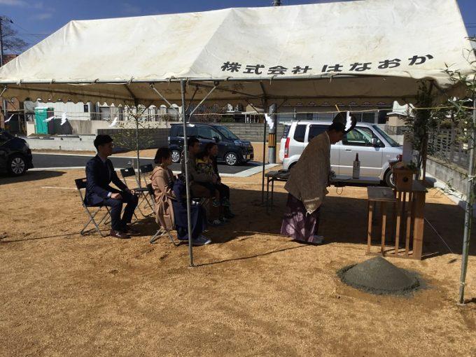 3月17日(土)、徳島市・N様邸で地鎮祭がありました