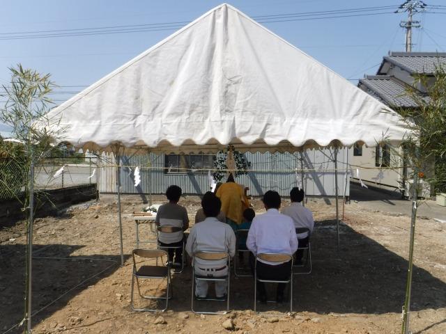 4月21日(日)、吉野川市・S様邸で地鎮祭がありました