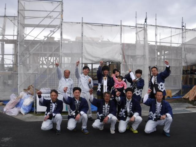4月15日(日)、吉野川市・O様邸で上棟式がありました