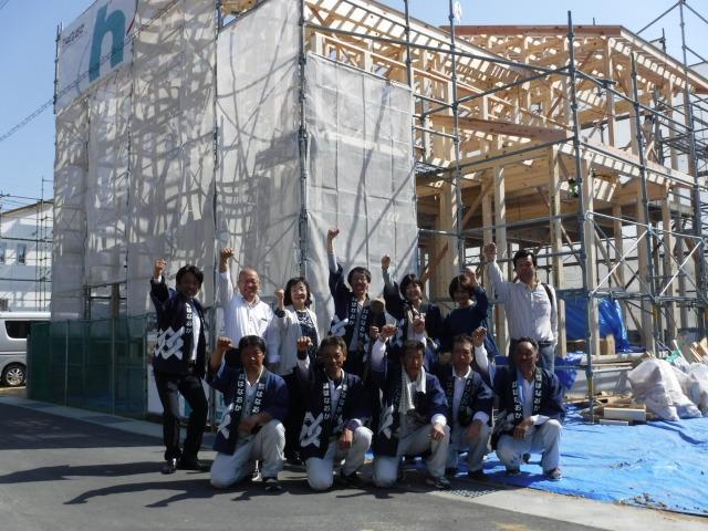 4月21日(土)、石井町・E様邸で上棟式がありました