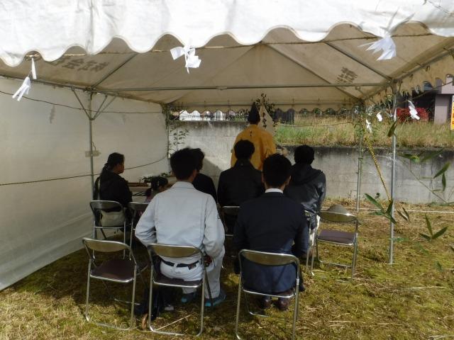 4月15日(日)、鳴門市・K様邸で地鎮祭がありました