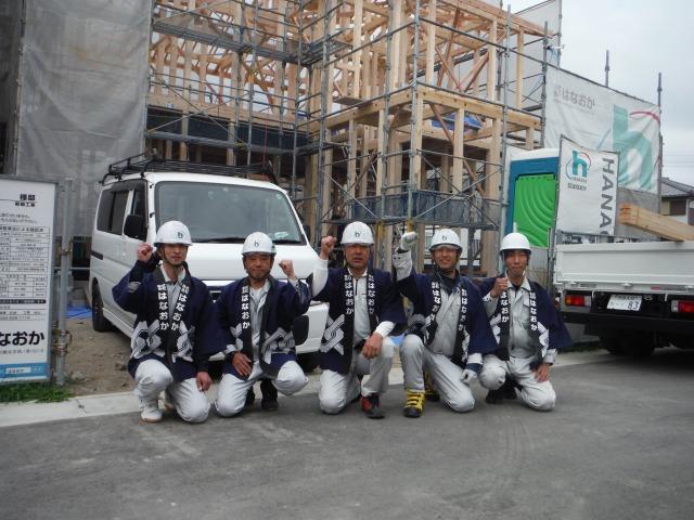 4月14日(土)、徳島市・H様邸で上棟式がありました
