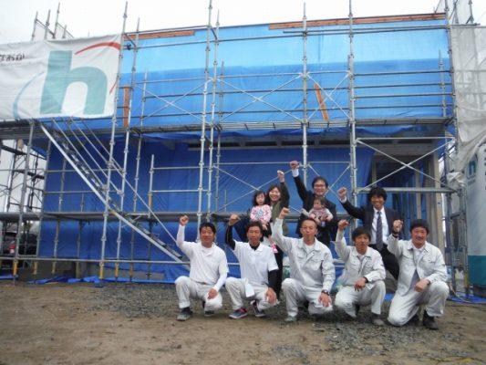 4月24日(火)、徳島市・F様邸で上棟式がありました