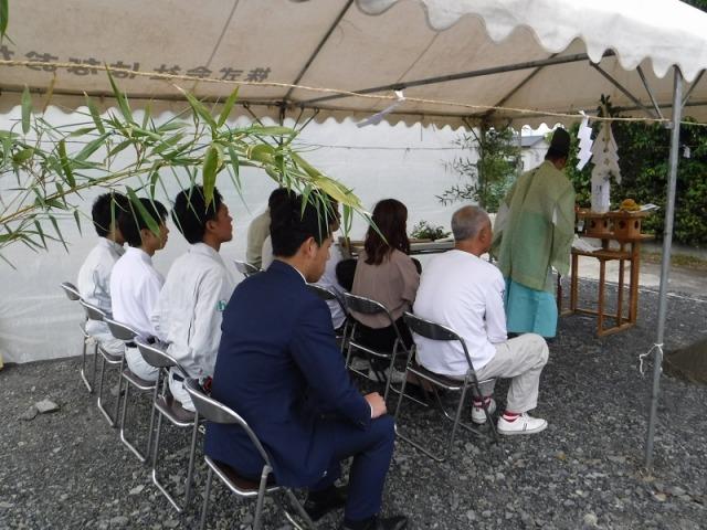 5月19日(土)、石井町・S様邸で地鎮祭がありました