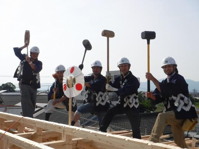 5月16日(水)、徳島市・N様邸で上棟式がありました